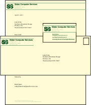 Letterhead, Business Card, and Envelope Designs