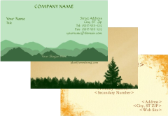 Sample Stock Business Cards